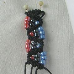 10 плетёных цепочек с бисером в технике макраме - Ярмарка Мастеров - ручная работа, handmade