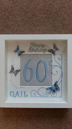 Special Birthday celebration box Frames 23cm x 23cms Made to order You chose theme, colour etc Birthday Card Puns, 21st Birthday Presents, 65th Birthday Gift, Happy 21st Birthday, Birthday Frames, Birthday Cards For Friends, Birthday Box, 21st Gifts, Special Birthday