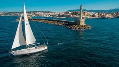This is a pin for sea lovers who sick for new experiences. Let the fresh air blow your hair while sailing around the island of Crete. Holiday Service, Sailing Trips, Hidden Beach, Charter Boat, Crete Greece, Crystal Clear Water, The Fresh, Cruise, Tours