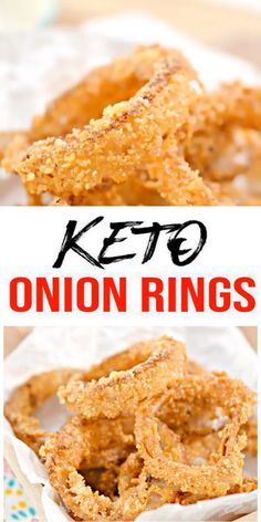 - Check out the BEST keto food meal recipe. AMAZING ketogenic diet onion rings - Easy w/ simple ingredient fried low carb onion rings. BEST keto side dish, keto snacks, keto appetizers, keto lunch or keto dinner idea. Try these simple & Smoothie Diet, Smoothie Recipes, Appetizer Recipes, Keto Recipes, Great Recipes, Appetizers, Dinner Recipes, Ketogenic Recipes, Keto Snacks