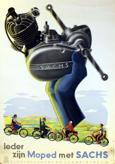 Sachs, 1955 - original vintage poster of the day listed on AntikBar.co.uk