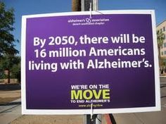 By 2050, there will be 16 million Americans living with Alzheimer's
