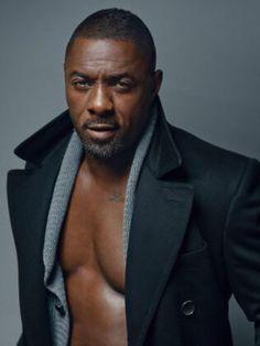 V8258 Idris Elba Hot Handsome Body Beard Rare Photo Actor WALL PRINT POSTER