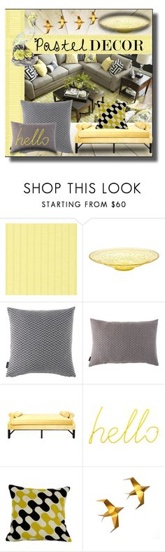 """""""Pastel Home Decor"""" by sabine-713 ❤ liked on Polyvore featuring interior, interiors, interior design, home, home decor, interior decorating, Thibaut, Kristin Drohan Collection, Block and Charlene Mullen"""