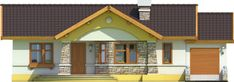 House floor designed for person family. House with interesting, friendly architecture and simple function. On one level, we designed. House Floor Design, Bungalow House Design, Garage, Construction, Design Case, Home Fashion, Gazebo, Home And Family, Shed