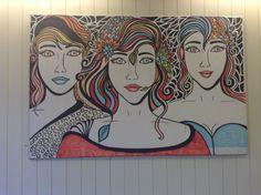 Dit schilderij hangt bij snackbar Ruud Patat, Wormerveer. Made by Sevdeger Ezersoz