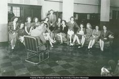 A photo of the International Relations Club in 1946.