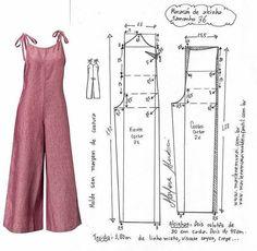 Dress Sewing Patterns, Sewing Patterns Free, Clothing Patterns, Sewing Tutorials, Jumpsuit Pattern, Pants Pattern, Diy Clothing, Sewing Clothes, Fashion Sewing