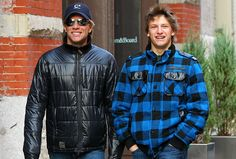 Spotted! JOHN BON JOVI AND HIS SON JESSE... LOOK SO MUCH ALIKE