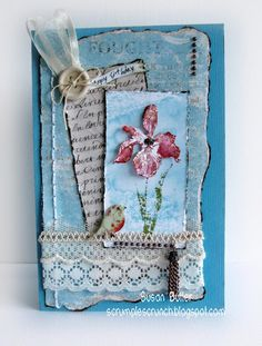 :) Lovely layered and distressed card