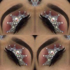 gorgeous Glamour Make Up with Crown Eyeshadow New Trends Colorful Eye Makeup, Eye Makeup Art, Hair Makeup, Rainbow Makeup, Makeup Goals, Makeup Inspo, Makeup Inspiration, Crown Eyeshadow, Eyeshadow Makeup