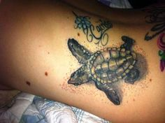 Turtle With Compass Rose Unique turtle tattoo with a compass, nautical star and leaves on it. Description from wolvesband.com. I searched for this on bing.com/images