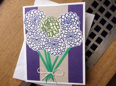 Floral Bouquet Happy Birthday Handmade Card by CardsbyMelissaRose
