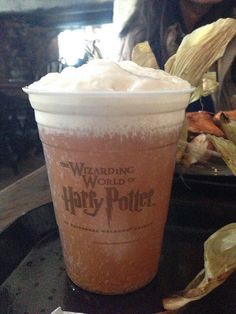 Butterbeer at the Wizarding World of Harry Potter at Universal Studios Florida.