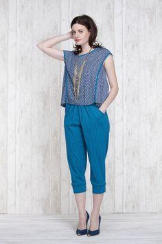 Pantalon Aubergine 661-40