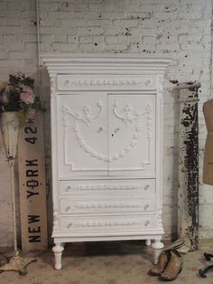 Painted Cottage Chic Shabby White Vintage by paintedcottages Furniture Fix, Cottage Furniture, Funky Furniture, Recycled Furniture, Shabby Chic Furniture, Painted Furniture, White Furniture, Painted Cottage, Shabby Cottage