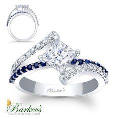 Barkev's Sapphire & Diamond Engagement Ring! 7976LBSW