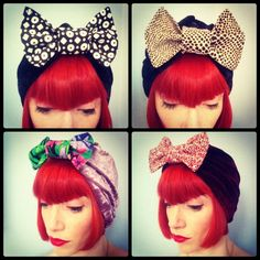 Amber Jane Vintage Bow Turban by AkhuDesigns on Etsy, £14.50