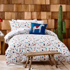 Howdy cowboy! A fun wild wild west inspired quilt cover for your little boy from Adairs Kids. Funky reverse of multi coloured western stars, great for an alternate look.