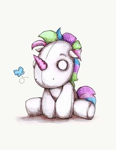 Einhorn als Hintergrundbild Etsy 20 Ideas - Jason Floyd DIY and Art Creepy Drawings, Dark Art Drawings, Creepy Art, Easy Drawings, Zombie Drawings, Voodoo Doll Tattoo, Voodoo Dolls, Cartoon Kunst, Cartoon Art
