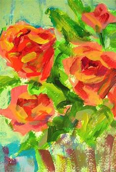 DPW Fine Art Friendly Auctions - Rough Roses by Mary Schiros