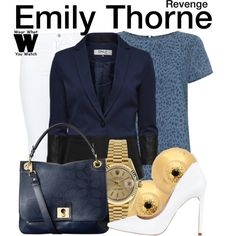 Inspired by Emily VanCamp as Emily Thorne on Revenge. #television #wearwhatyouwatch