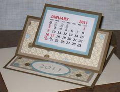 Cathy's Craft Room: Easel Calendar Card