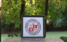 A personal favorite from my Etsy shop https://www.etsy.com/listing/251773226/framed-vintage-virginia-tech-coat-of
