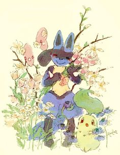 gourgeist:  Lucario's Flowers by Celmiu