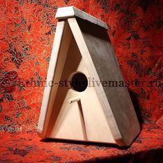 Купить Скворечник - бежевый, домик для птиц, для сада, садовый декор, садовое украшение, украшение для сада