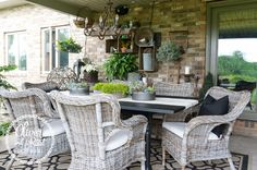 Oliver and Rust || summer patio 2015, grey ikea behold chairs, rustic black and white