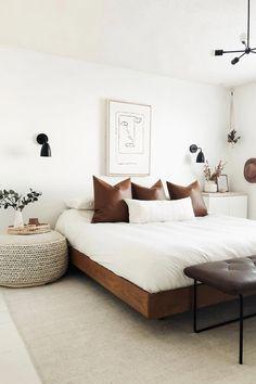 Minimalist Bedroom 55872851614383892 - Basi Walnut Queen Bed Frame Source by prettyinthepines Home Decor Bedroom, Decor Room, Bedroom Ideas, Bedroom Furniture, Bedroom Signs, Ikea Bedroom, Design Bedroom, Bedroom Rustic, Ikea Beds