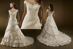 Gorgeous Appliqued off-Shoulder Wedding Dress (WDS-5134)