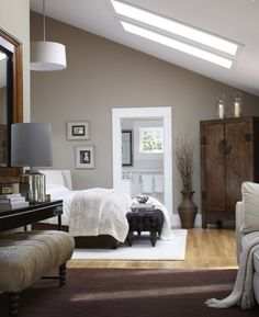 Master Bedroom wall color and white trim