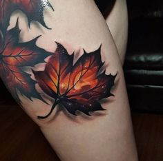 Inspirational Tattoos For This Fall-Autumn Leaves