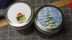 Waste not Want not- Recycle your cards into pretty canning jar toppers -via… Diy Craft Projects, Fun Crafts, Paper Crafts, Craft Ideas, Christmas 2014, Christmas Ideas, Christmas Crafts, Canning Lids, Jesus Birthday