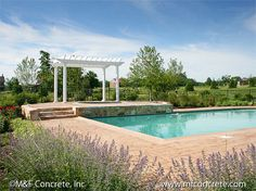 M & F Concrete, Inc. Residential Stamped Concrete Patio Projects Northern Virginia and DC Metro