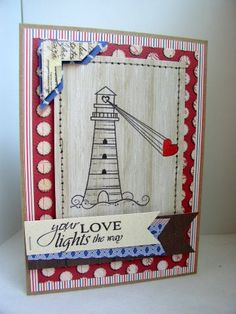 {LOVE lights the way} stamp of the week from unity stamp company - card created by Unity Design Team Member -Stephanie Muzzlin