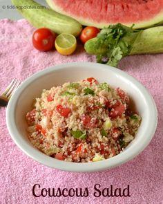 Couscous Salad Recipe | ticklingpalates.com #couscous #summersalads #vegan #vegetarian