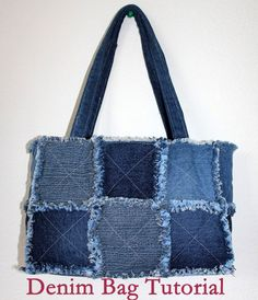 Bag of old jeans tutorial. Сумка из старых джинс http://www.handmadiya.com/2015/08/bag-of-old-jeans-tutorial.html