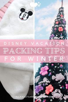 Packing Tips for Winter at Disney! Sure Disney Parks are in sunny locations but be prepared to come with a jacket, layers and more than you realize! Here's our best Disney Packing Tips for the Winter months!