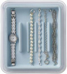 Jewelry Stax - Bracelet Organizer, Light Blue - free shipping | The Organizing Store