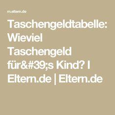 Taschengeldtabelle: Wieviel Taschengeld für's Kind? I Eltern.de  | Eltern.de