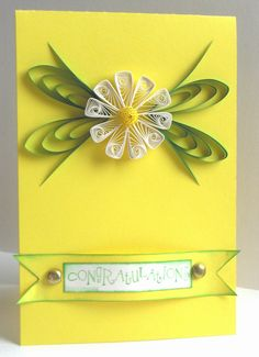 Quilling - flower card   ...pr
