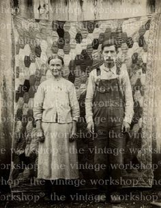 american gothic vintage quilt image
