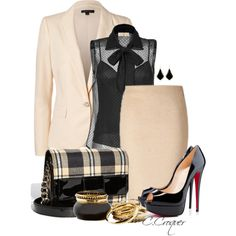 Classy With Plaid, created by ccroquer on Polyvore