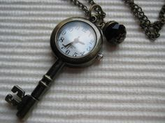 Shop for pocket watch on Etsy, the place to express your creativity through the buying and selling of handmade and vintage goods. Key Jewelry, Unique Jewelry, Key Tattoos, Knobs And Knockers, Metal Containers, Cool Gear, Key To My Heart, Watch Necklace, Pocket Watch