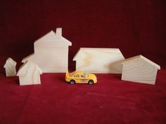 Housing Set Assortment Unfinished Pine Cutouts by ClickityClack