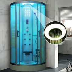 Quadrant Steam Shower Cubicle Enclosure Bath Cabin Room Luxury Shower Bathroom Jetted Massage Walking-in 137 BLACK White Gold Bathroom Faucet, Bathroom Fixtures, Shower Bathroom, Steam Shower Enclosure, Quadrant Shower, Shower Cabin, Luxury Shower, Shower Cubicles, Steam Showers