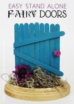 Easy Stand Alone Fairy Doors Tutorial